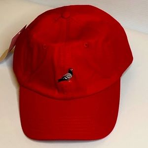Staple Pigeon Mens Adjustable Red 6 Panel Hat Cap